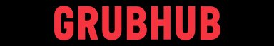 Grubhub logo red letters black background