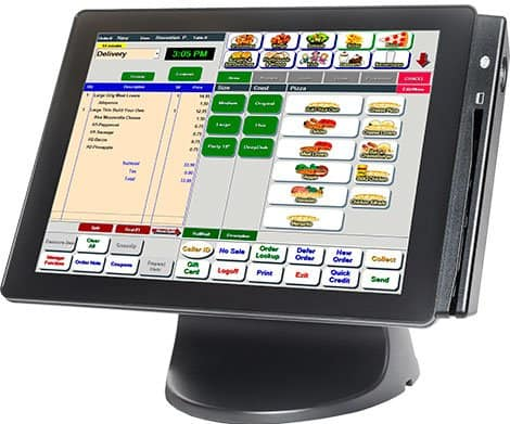 Revention POS Pizza Software Terminal with interface
